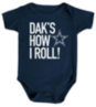 Dallas Cowboys Infant Dak's How I Roll Bodysuit