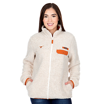 Texas Longhorns Columbia Womens Mountain Side Heavyweight Fleece Jacket