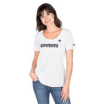 Dallas Cowboys Nike Sideline Scoop Tee