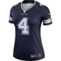 Dallas Cowboys Nike Womens Dak Prescott #4 Legend Team Tee