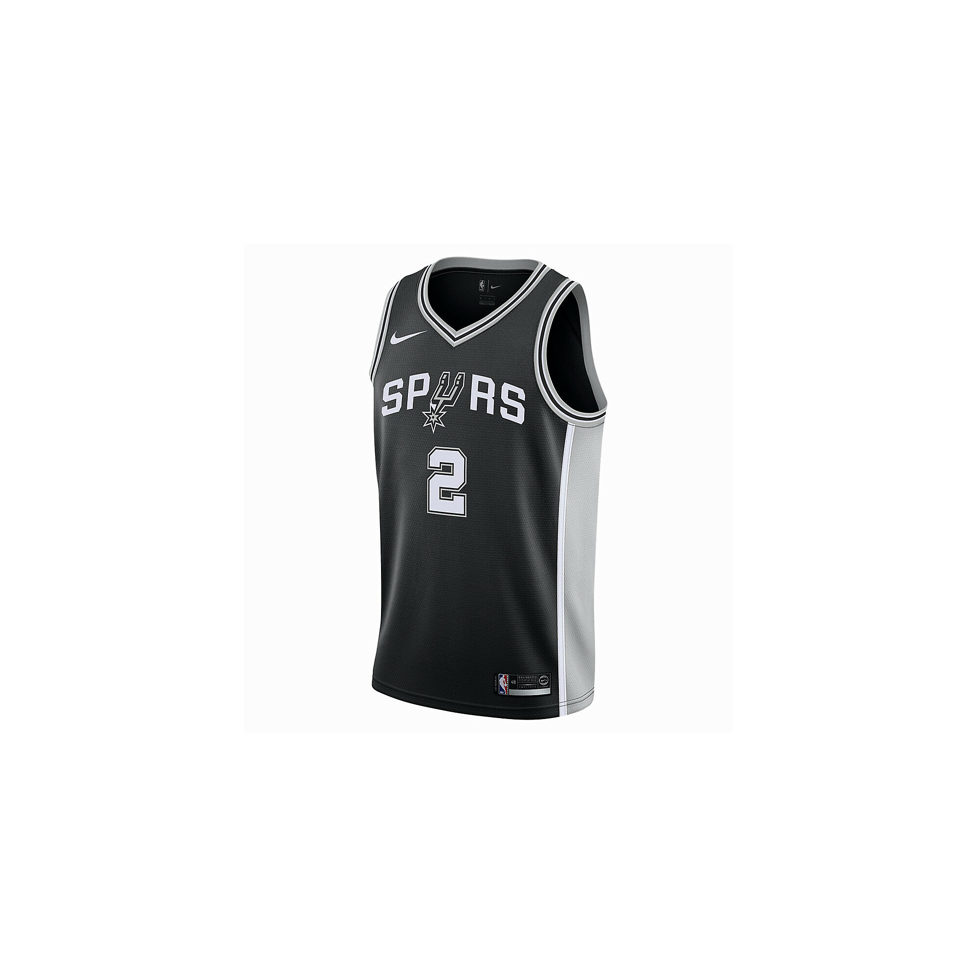 San Antonio Spurs Kawhi Leonard Nike Black Replica Swingman Road Jersey