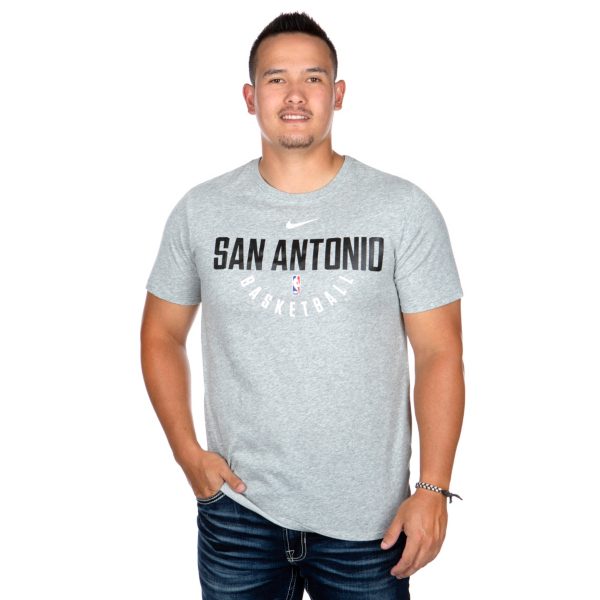 San Antonio Spurs Mens Nike Dry Practice Short Sleeve T-Shirt
