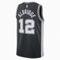 San Antonio Spurs LaMarcus Aldridge Nike Black Replica Swingman Road Jersey