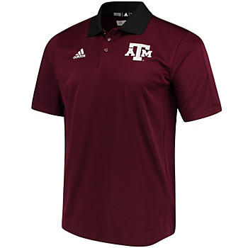 Texas A&M Aggies adidas Coaches Polo