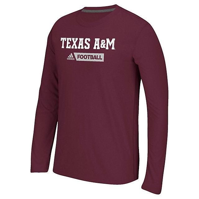 Texas A&M Aggies adidas Sideline Gridiron Tee