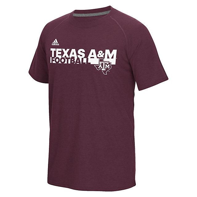 Texas A&M Aggies adidas Sideline Grind Football Tee
