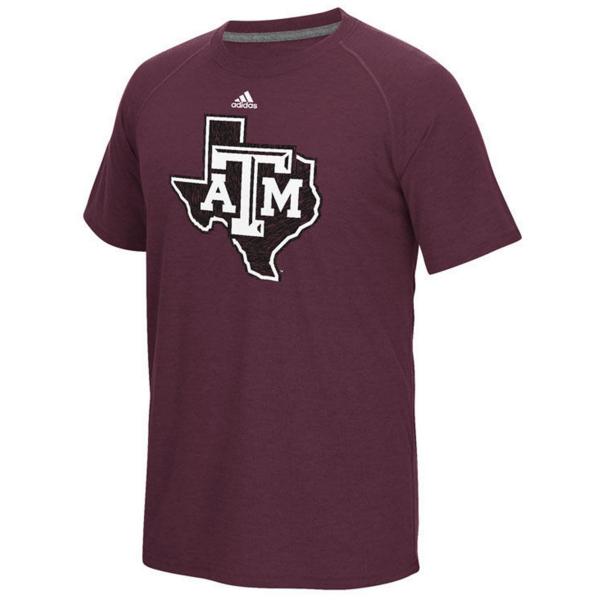 Texas A&M Aggies adidas White Noise Team Logo Tee