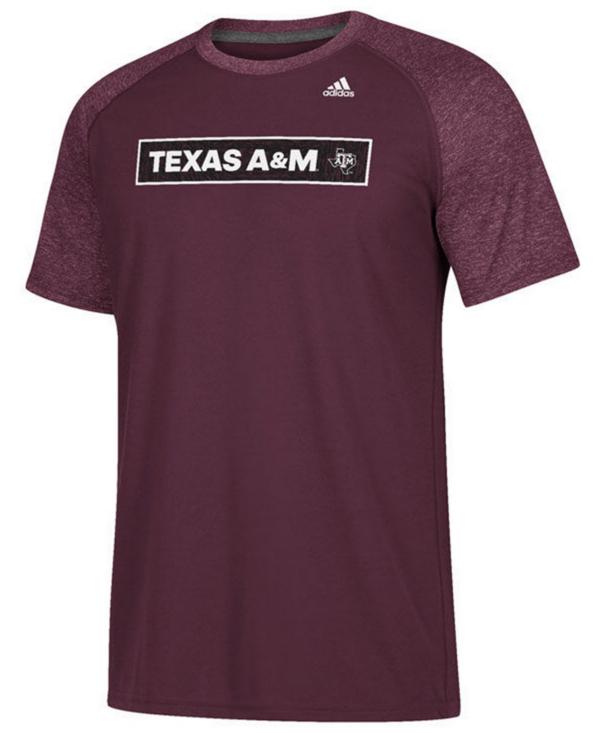 Texas A&M Aggies adidas White Noise Scoreboard Tee