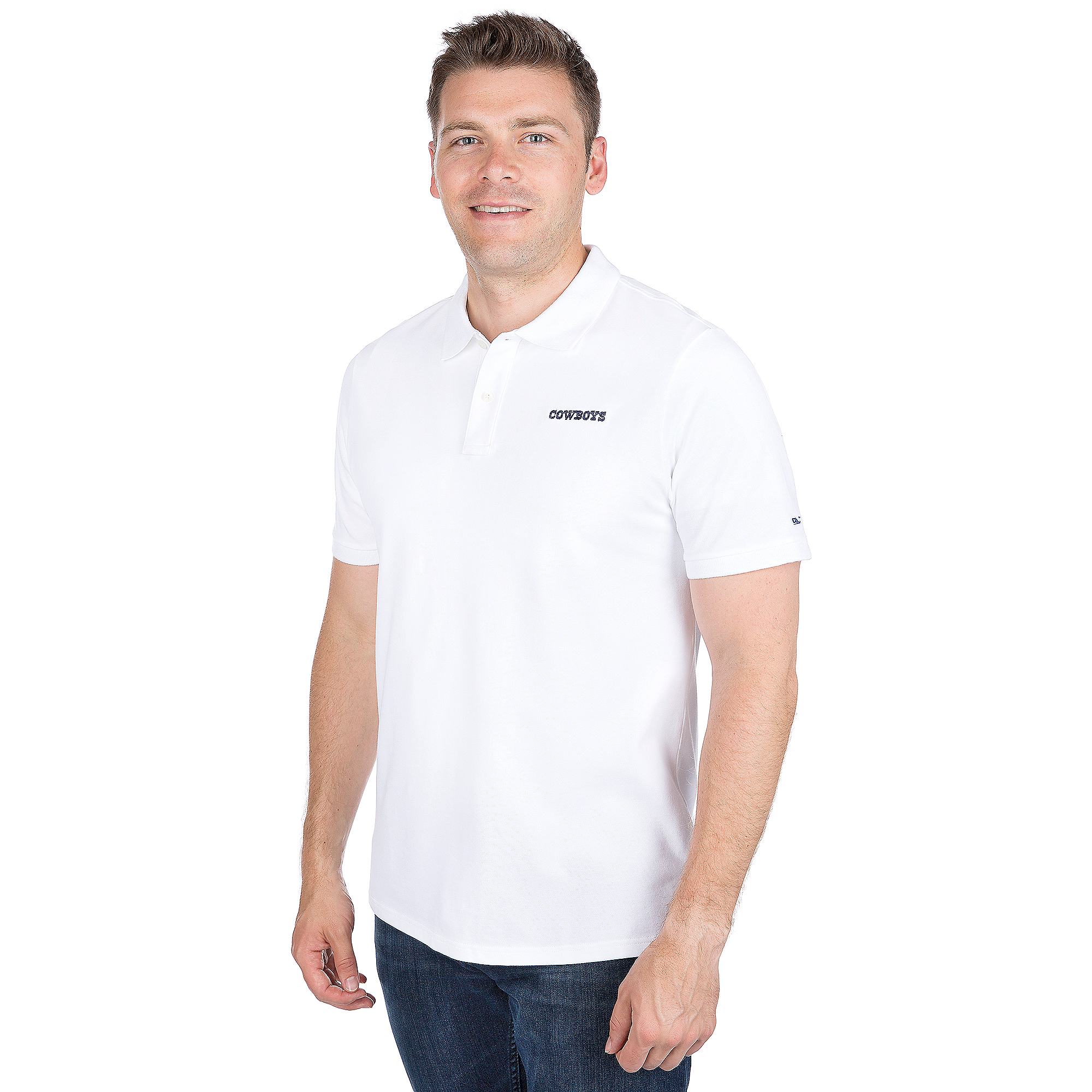 Dallas Cowboys Vineyard Vines Stretch Pique Polo