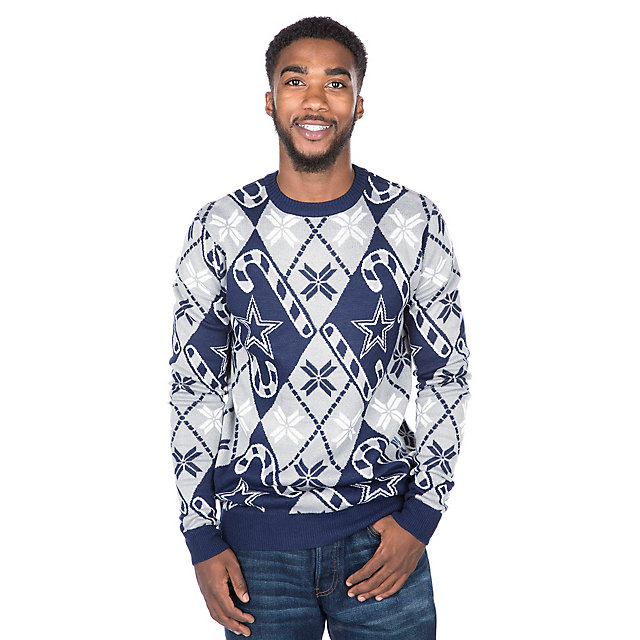 Dallas Cowboys Candy Cane Ugly Sweater