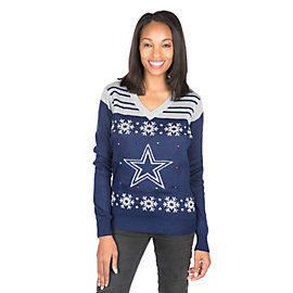 Dallas Cowboys Womens Light Up Ugly Sweater