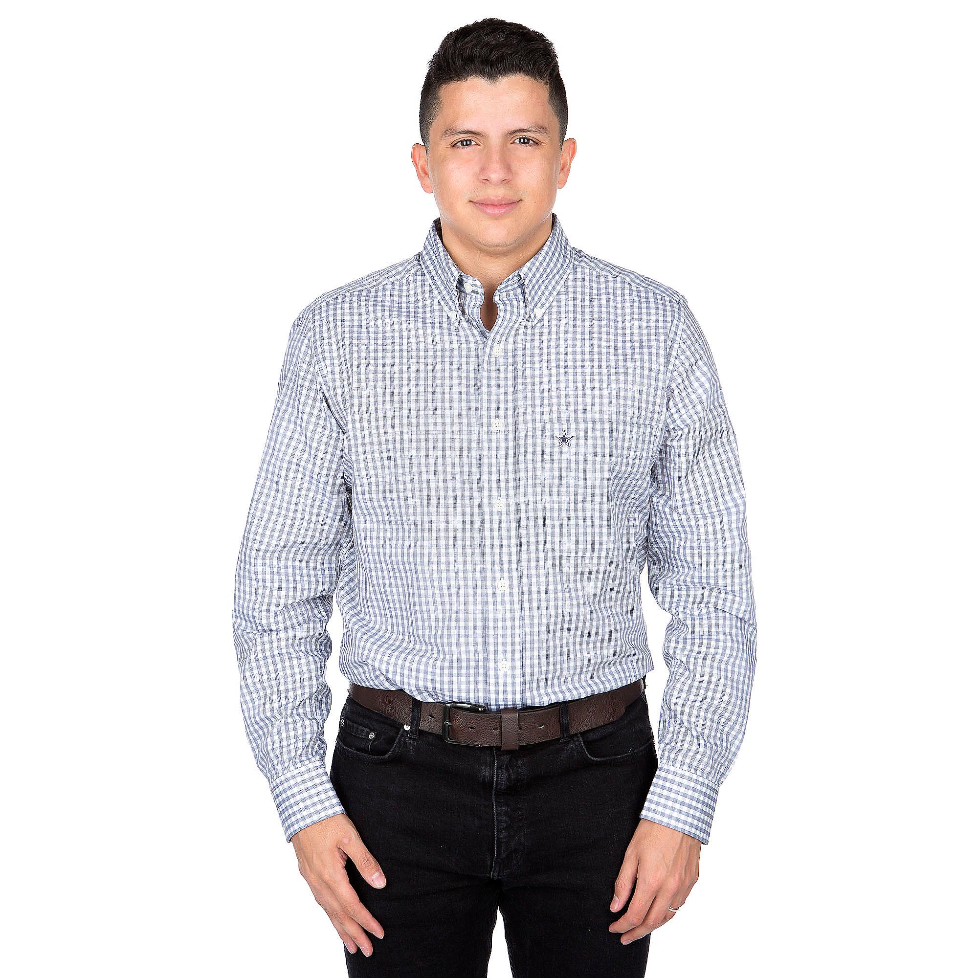 Dallas Cowboys Antigua Rank Long Sleeve Button Down Shirt