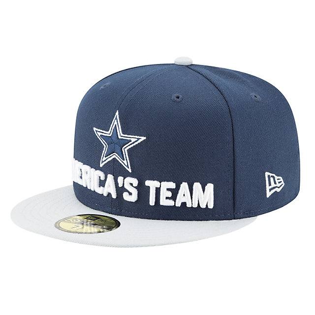 Dallas Cowboys New Era 2018 Draft Mens Fan Gear 59Fifty Cap