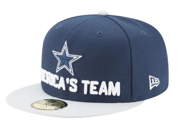 Dallas Cowboys New Era 2018 Draft Mens Fan Gear 59Fifty Cap