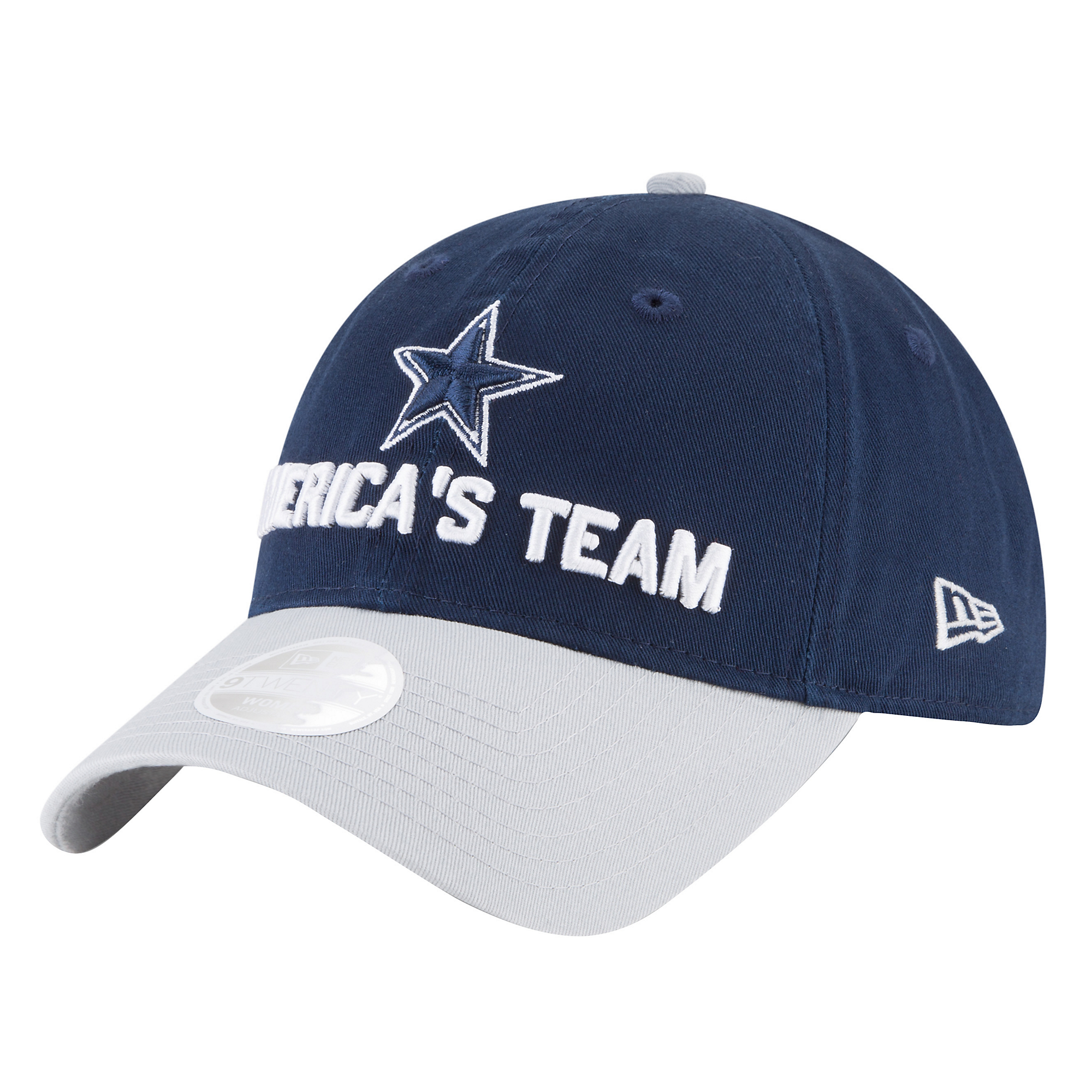 ... Dallas Cowboys New Era 2018 Draft Womens Fan Gear 9Twenty Cap ... d999f2a9b01