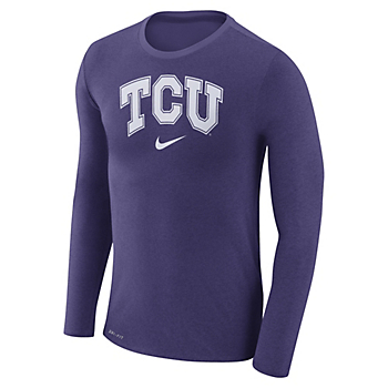 TCU Horned Frogs Nike Marled Long Sleeve Tee
