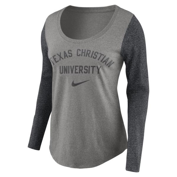 TCU Horned Frogs Womens Nike Long Sleeve Modern Tee
