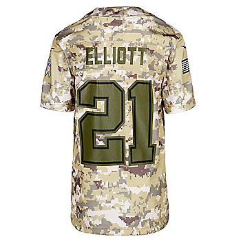 d64ae7028 Dallas Cowboys Youth Ezekiel Elliott  21 Nike Limited Salute To Service  Jersey