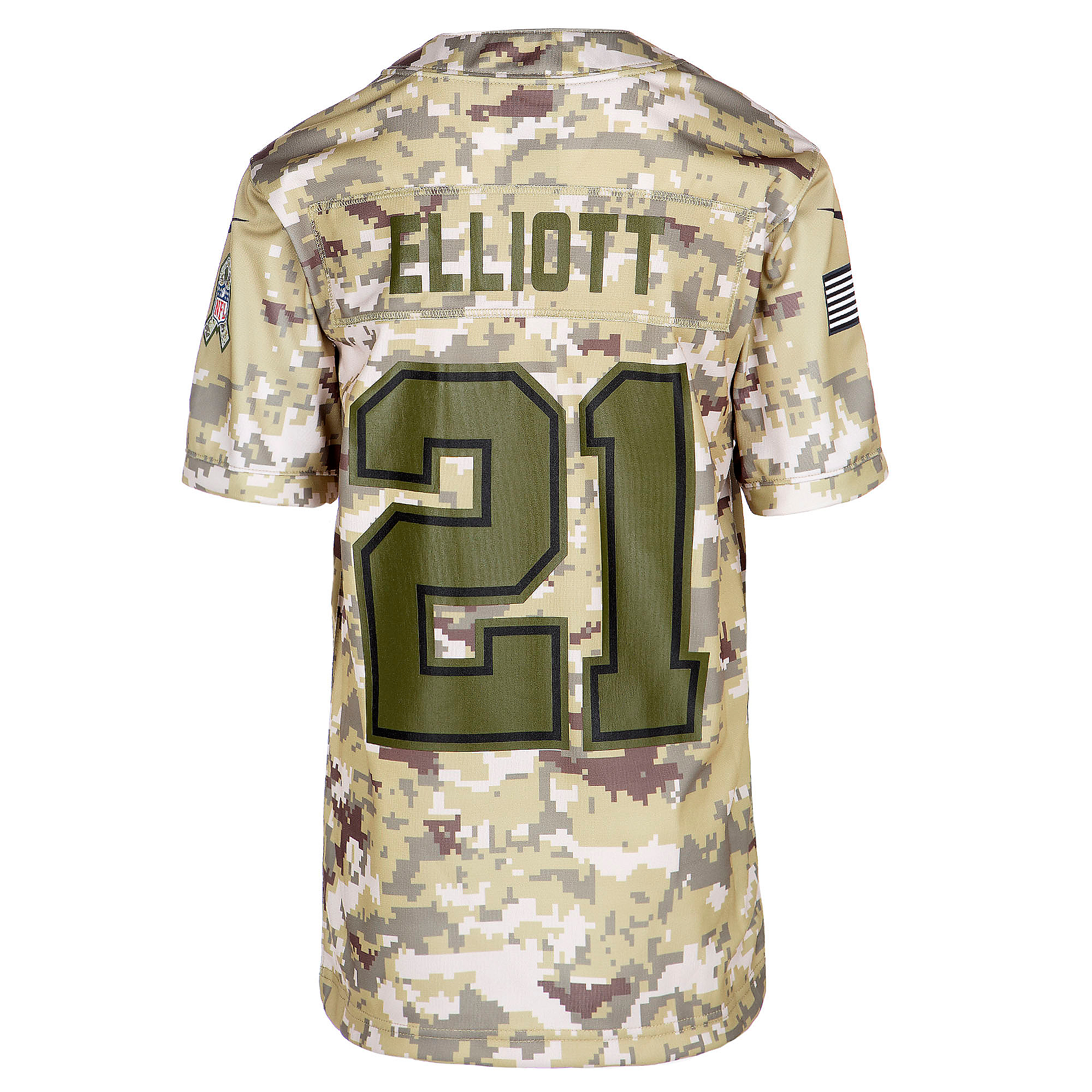 best service e9f50 dfd5a Dallas Cowboys Youth Ezekiel Elliott #21 Nike Limited Salute To Service  Jersey