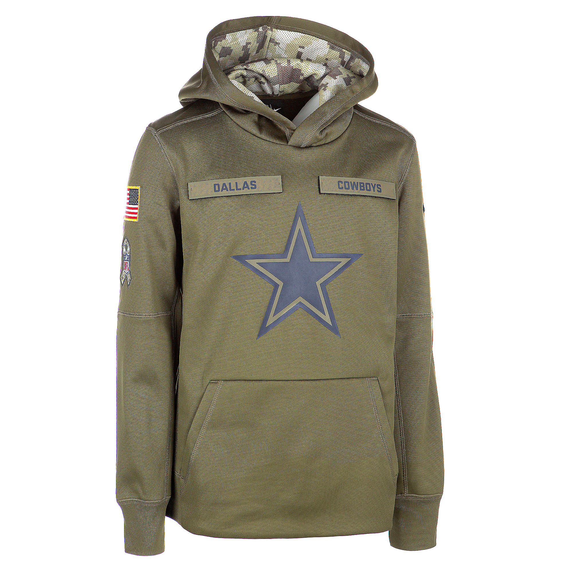 buy online a2191 9644e Dallas Cowboys Nike Salute to Service Youth Hoody | Dallas Cowboys Pro Shop