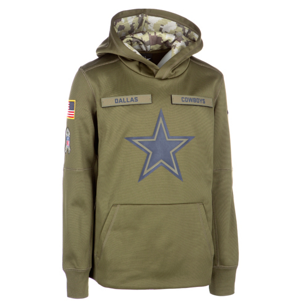 Dallas Cowboys Nike Salute to Service Youth Hoody