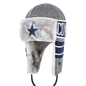 79be3ebb5 Dallas Cowboys New Era Frosty Trapper Knit Hat