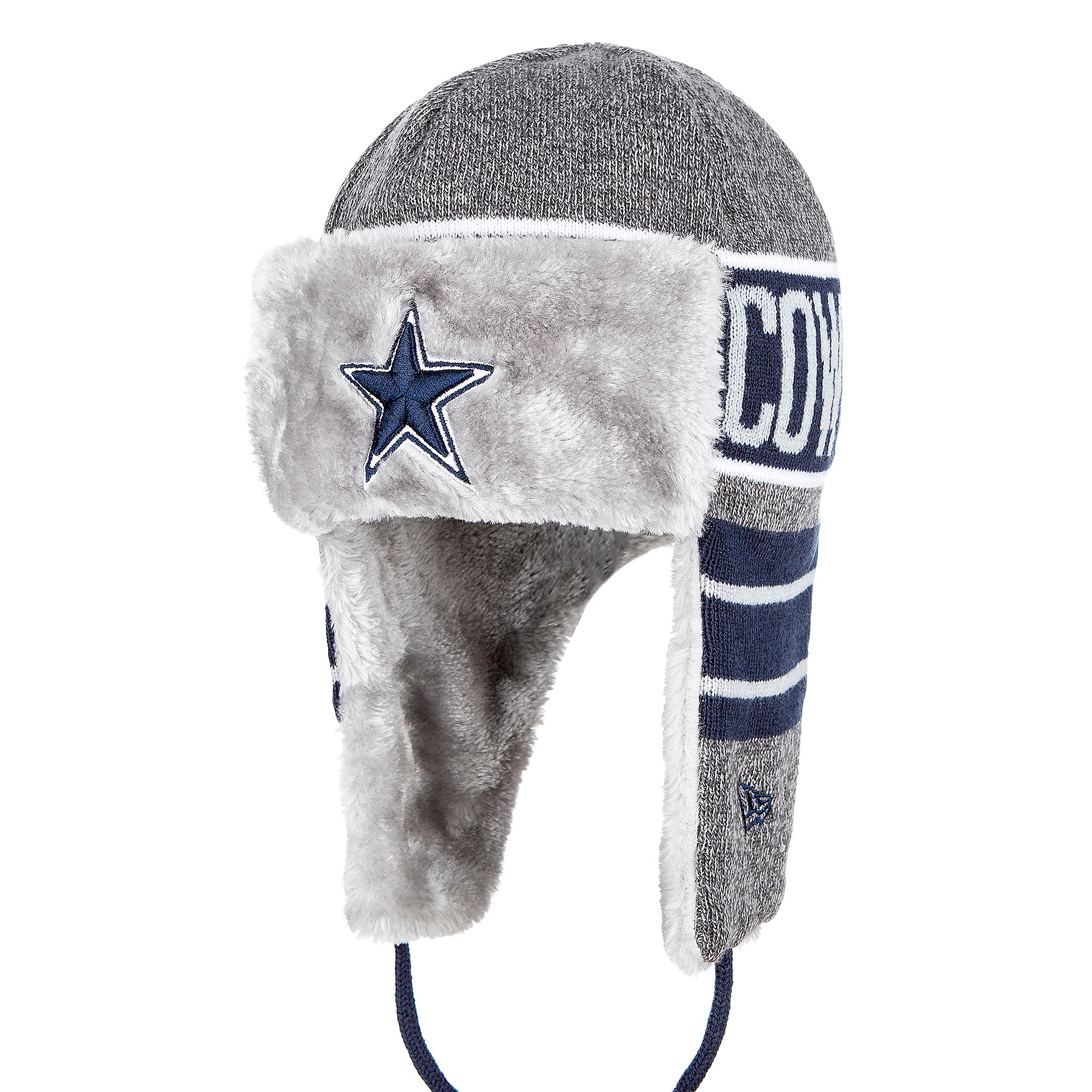 4f4f025833f7a Dallas Cowboys New Era Frosty Trapper Knit Hat