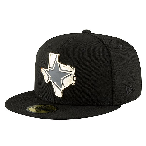 Dallas Cowboys New Era Mens Gold Stated 59Fifty Hat