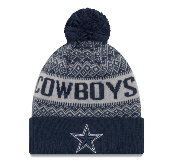Dallas Cowboys New Era Jr Wintry 3 Knit Hat