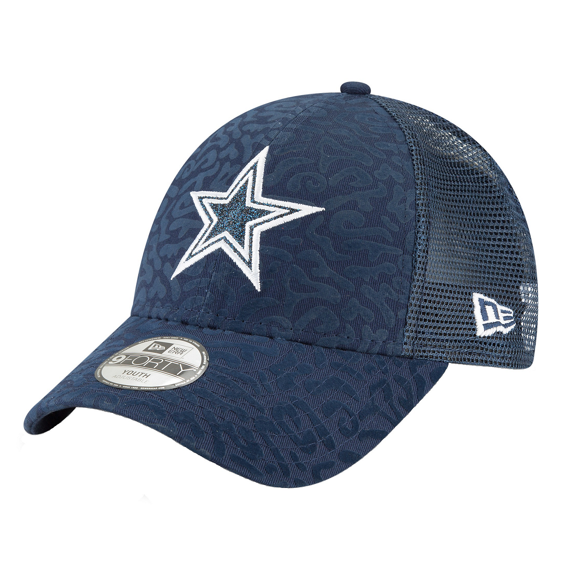 Dallas Cowboys New Era Jr Spotted Sparkle 9Forty Cap