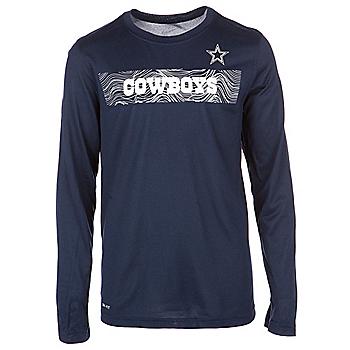 Dallas Cowboys Nike Youth Sideline Long Sleeve Tee