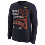 Houston Astros Nike Mens World Series Champs Long Sleeve Tee