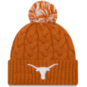 Texas Longhorns Youth New Era Cozy Cable Knit Hat