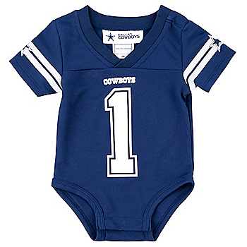 Dallas Cowboys Infant Navy Jersey Bodysuit 43adef951