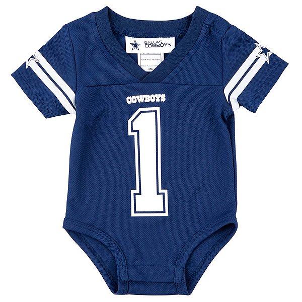 Dallas Cowboys Infant Navy Jersey Bodysuit