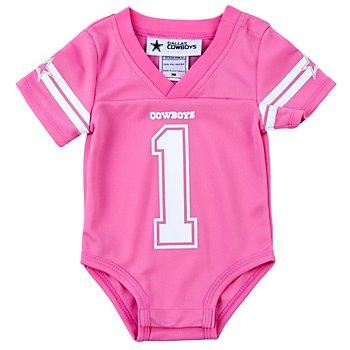 Dallas Cowboys Infant Pink Jersey Bodysuit