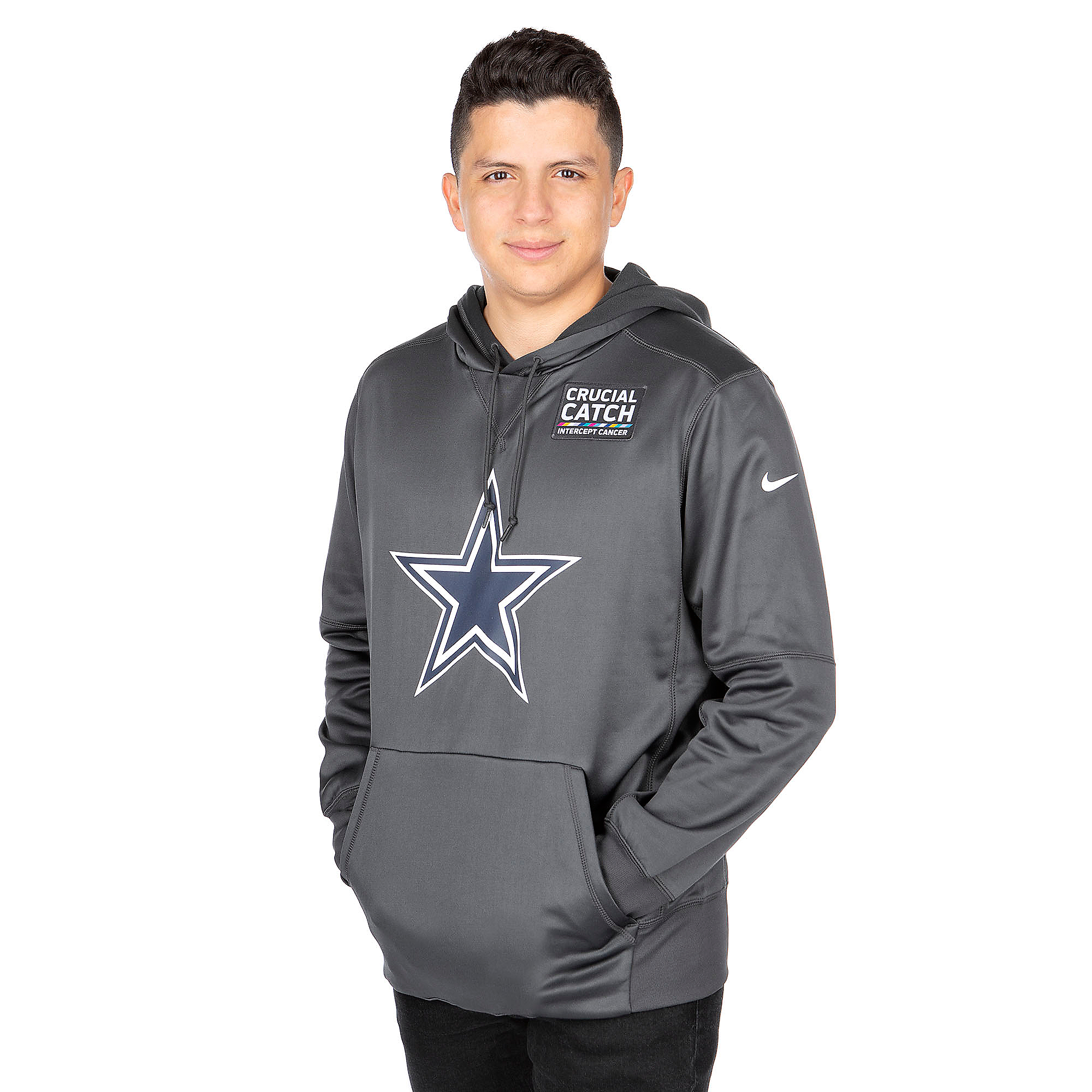 Dallas Cowboys Nike Crucial Catch Therma Pullover Hoody