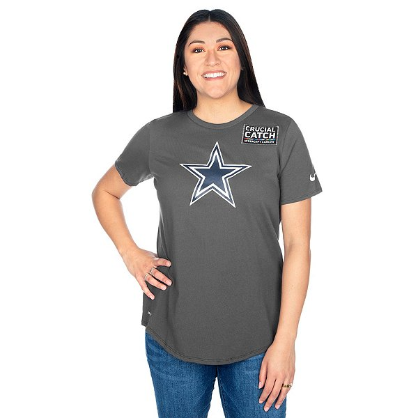 Dallas Cowboys Nike Womens Crucial Catch Tee