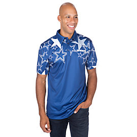 Dallas Cowboys Loudmouth Star Fancy Polo Shirt