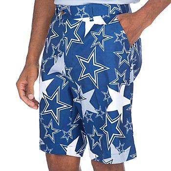 Dallas Cowboys Loudmouth Star Stretch Tech Short