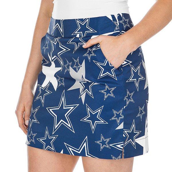 Dallas Cowboys Loudmouth Womens Star Stretch Tech Skirt