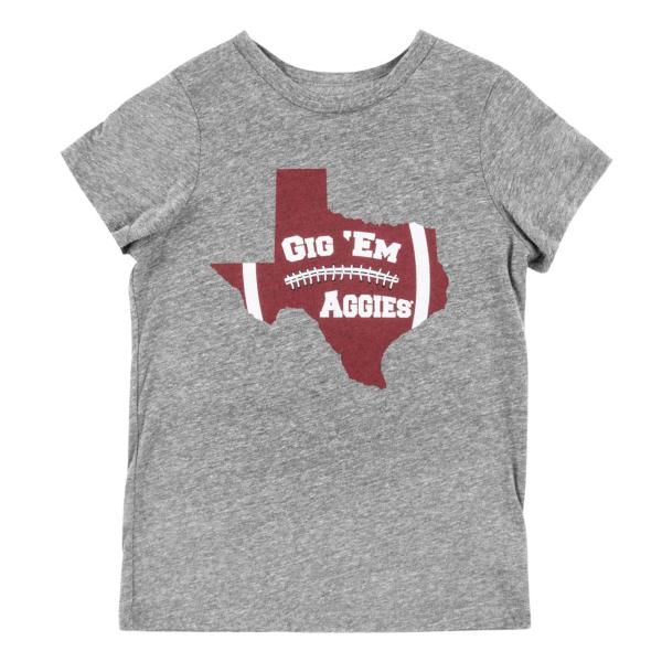 Texas A&M Aggies Kids Gig Em Tee
