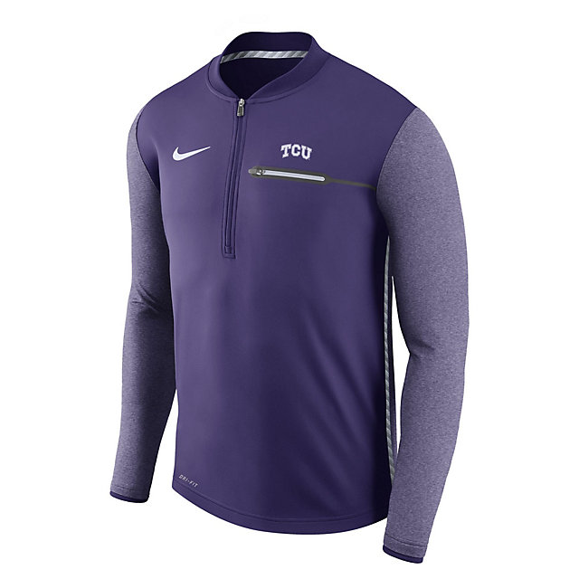 TCU Horned Frogs Nike Coaches Half-Zip Pullover