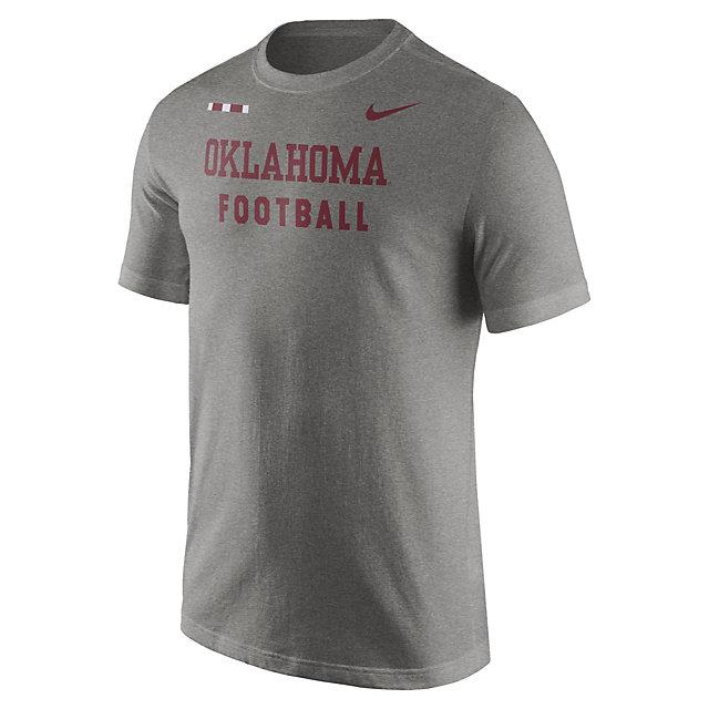 Oklahoma Sooners Nike Grey Facility Tee