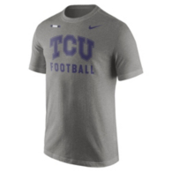 TCU Horned Frogs Nike Grey Facility Tee