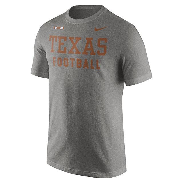 Texas Longhorns Nike Grey Facility Tee