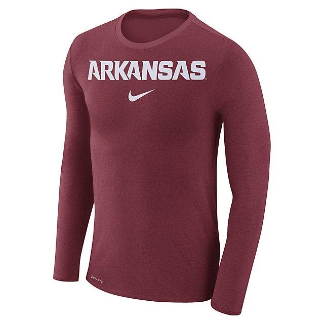 Arkansas Razorbacks Nike Marled Long Sleeve Tee
