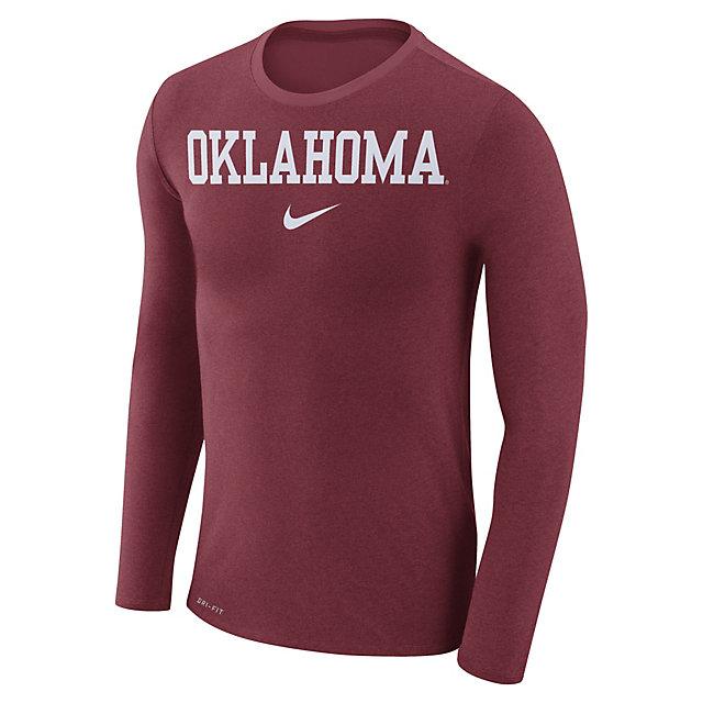 Oklahoma Sooners Nike Marled Long Sleeve Tee
