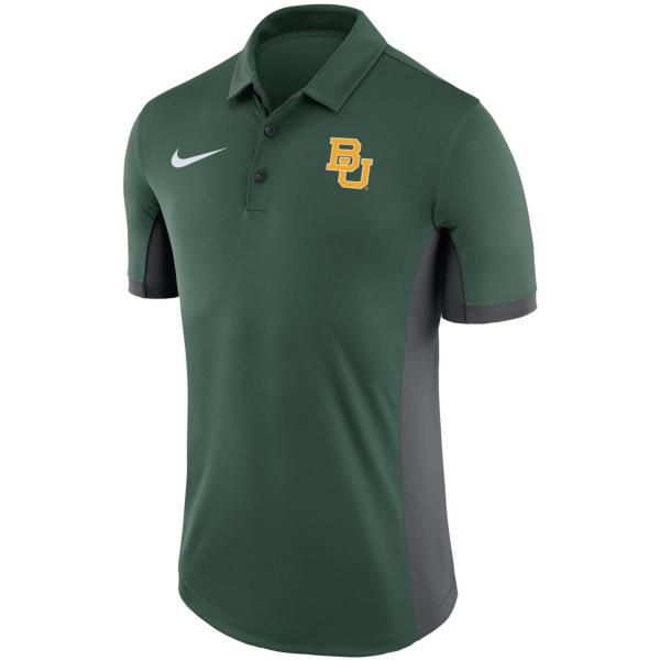 Baylor Bears Nike Dry Mens Evergreen Polo