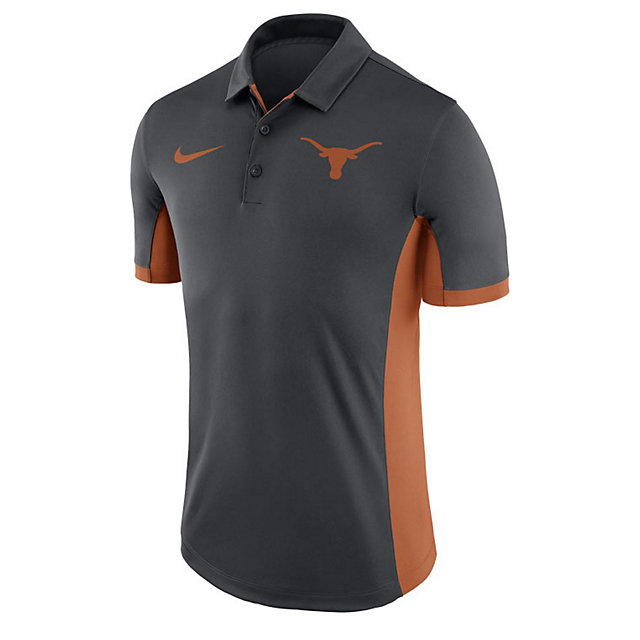Texas Longhorns Nike Dry Mens Anthracite Evergreen Polo
